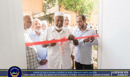 Opening Ceremony of newly renovated hostel building