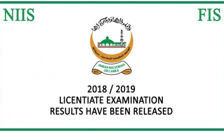 licentiate certificate examination 2018/2019 Results have been released